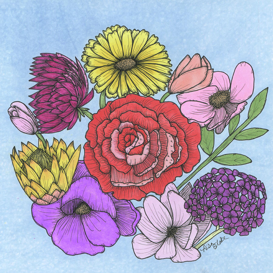 Floral Bouquet by Lisa Blake
