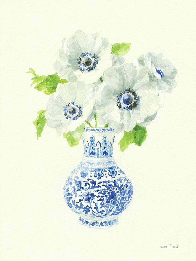 Blue Painting - Floral Chinoiserie I by Danhui Nai