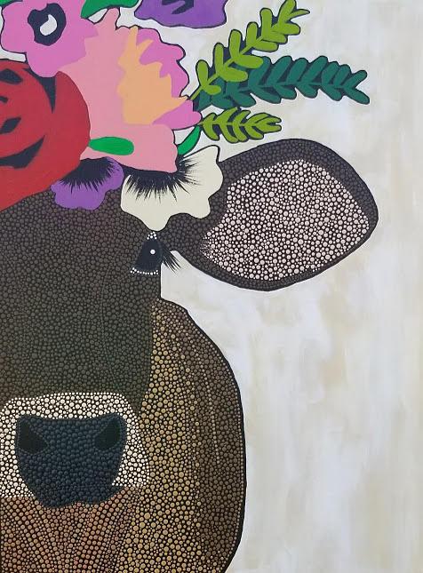 Floral Cow by KRISTIN MCDONNEL