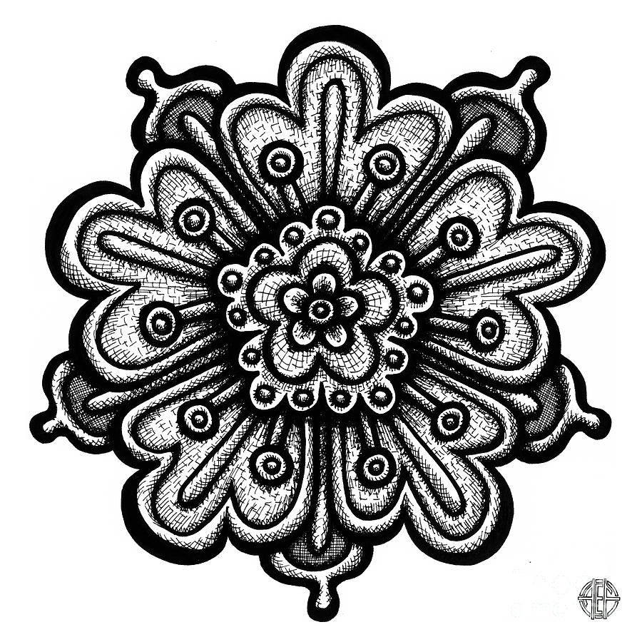 Flower Drawing - Floral Icon 73 by Amy E Fraser