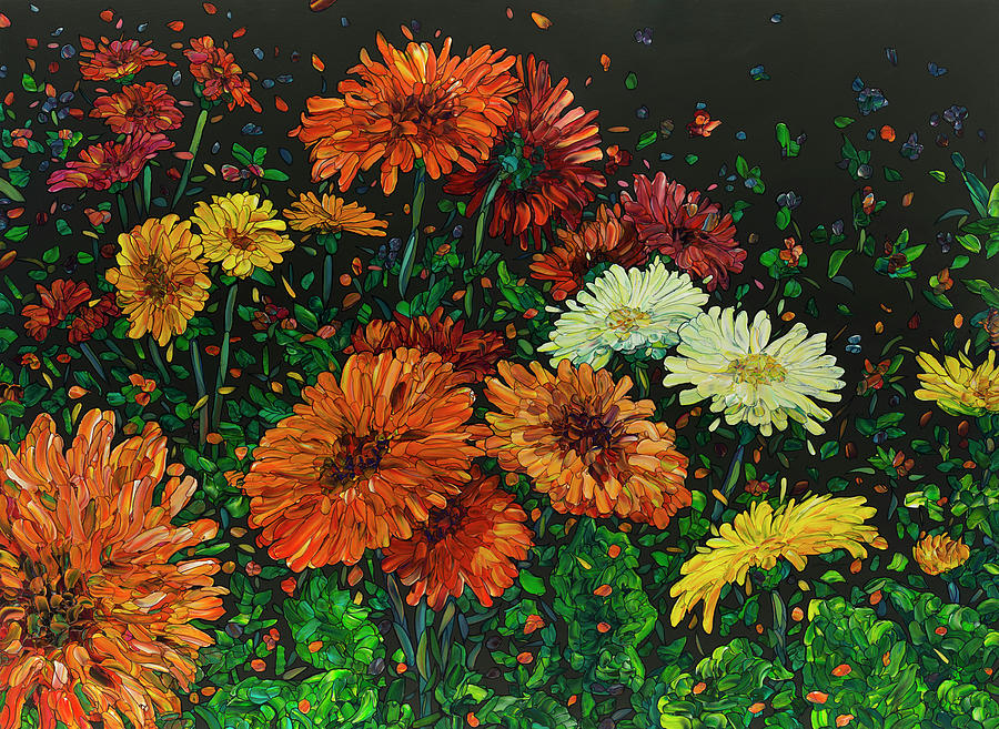 Floral Interpretation - Gerber Daisies by James W Johnson