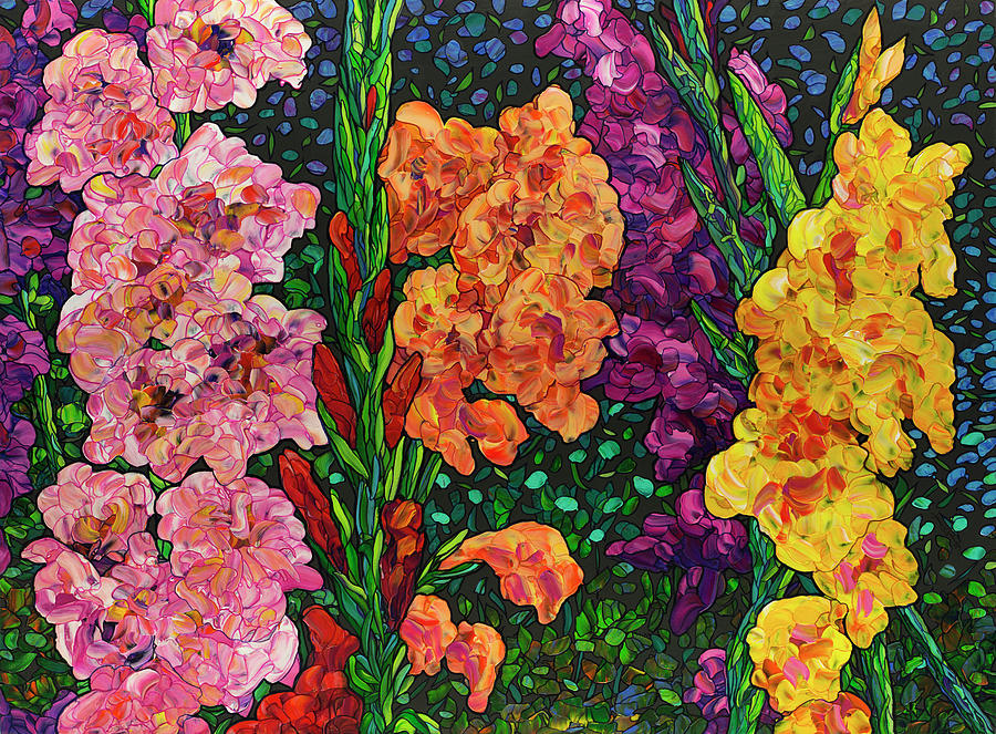 Floral Interpretation - Gladiolus by James W Johnson