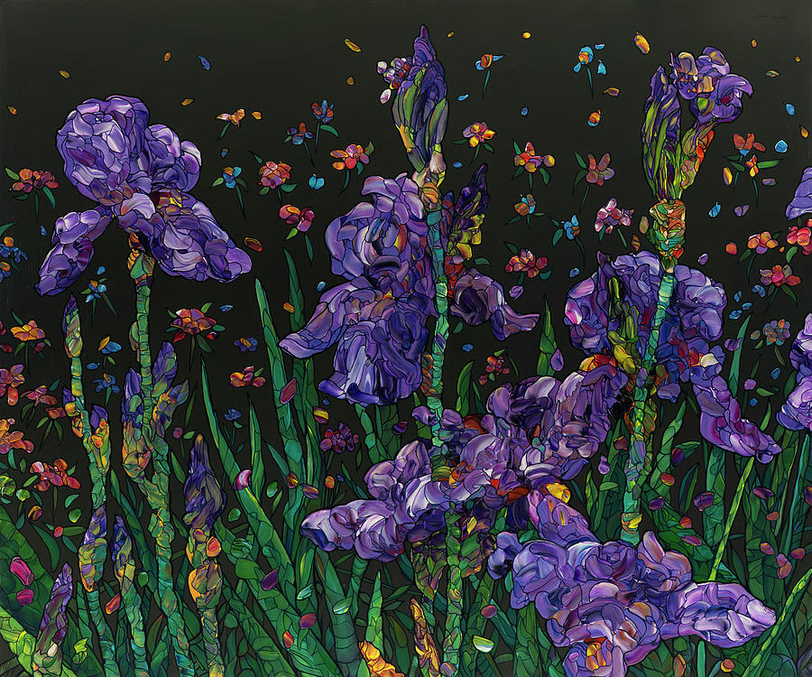 Floral Interpretation - Irises by James W Johnson