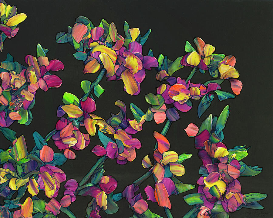 Floral Interpretation - Lantana Study by James W Johnson