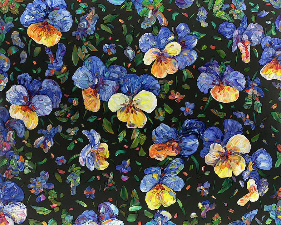 Floral Interpretation - Pansies by James W Johnson