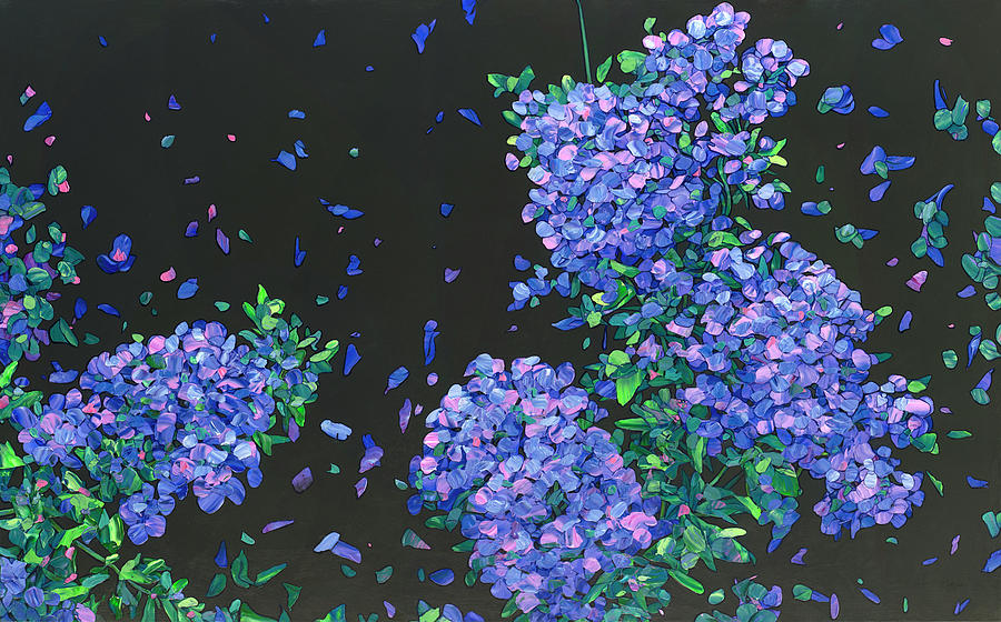Floral Interpretation - Plumbago by James W Johnson
