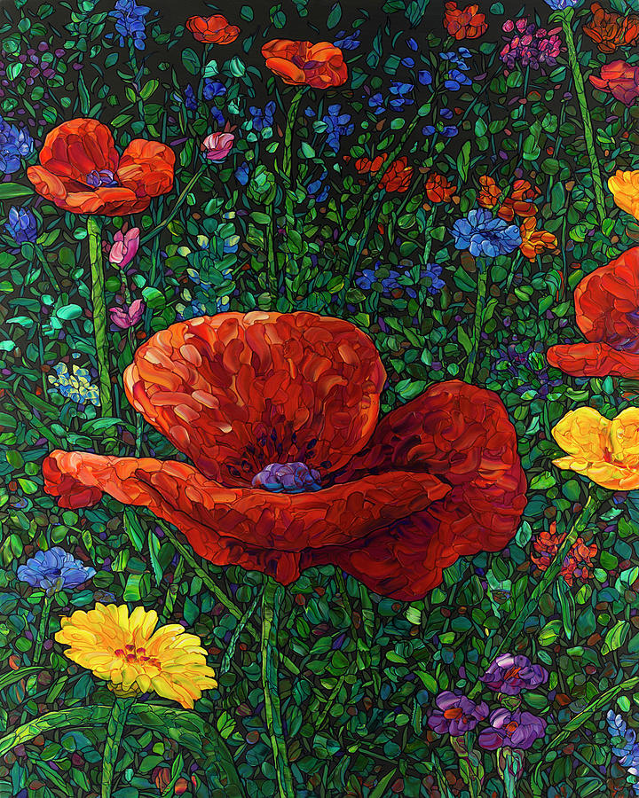 Floral Interpretation - Poppy by James W Johnson