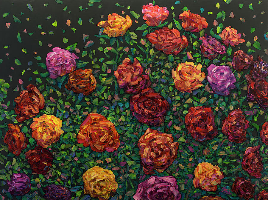 Floral Interpretation - Roses by James W Johnson
