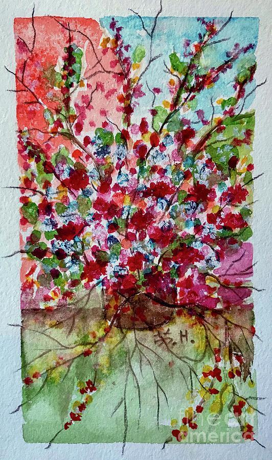 Floral Painting - Floral Life by Wonju Hulse