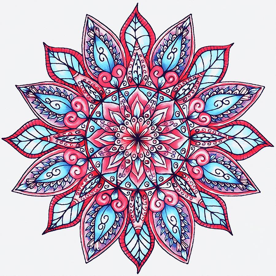 Floral Mandala - 01 by Andrea Mazzocchetti