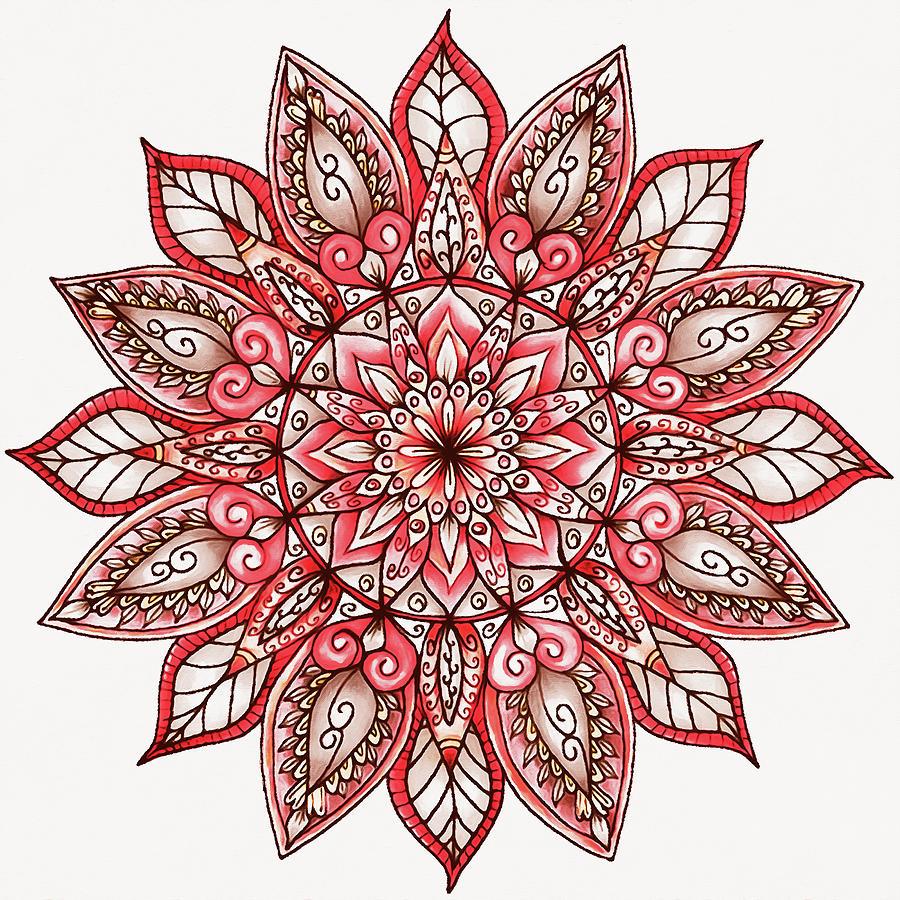 Floral Mandala - 02 by Andrea Mazzocchetti