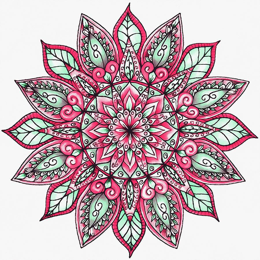 Floral Mandala - 03 by Andrea Mazzocchetti