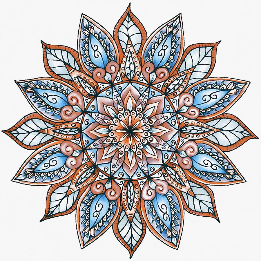 Floral Mandala - 04 by Andrea Mazzocchetti