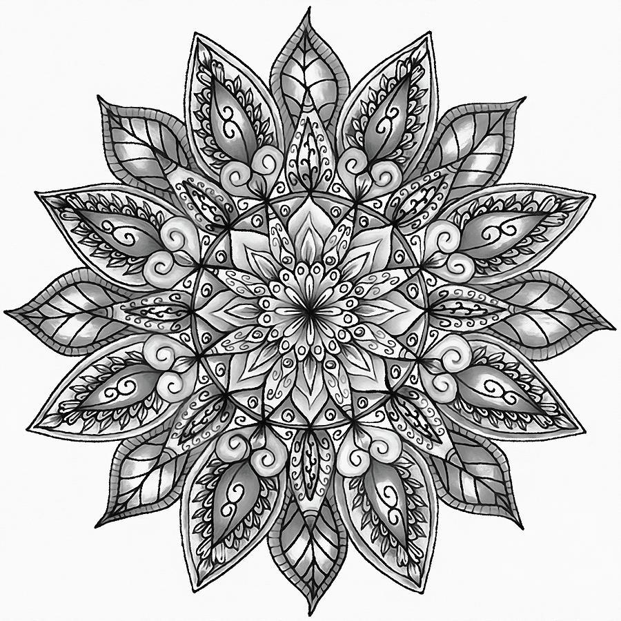 Floral Mandala - 05 by Andrea Mazzocchetti