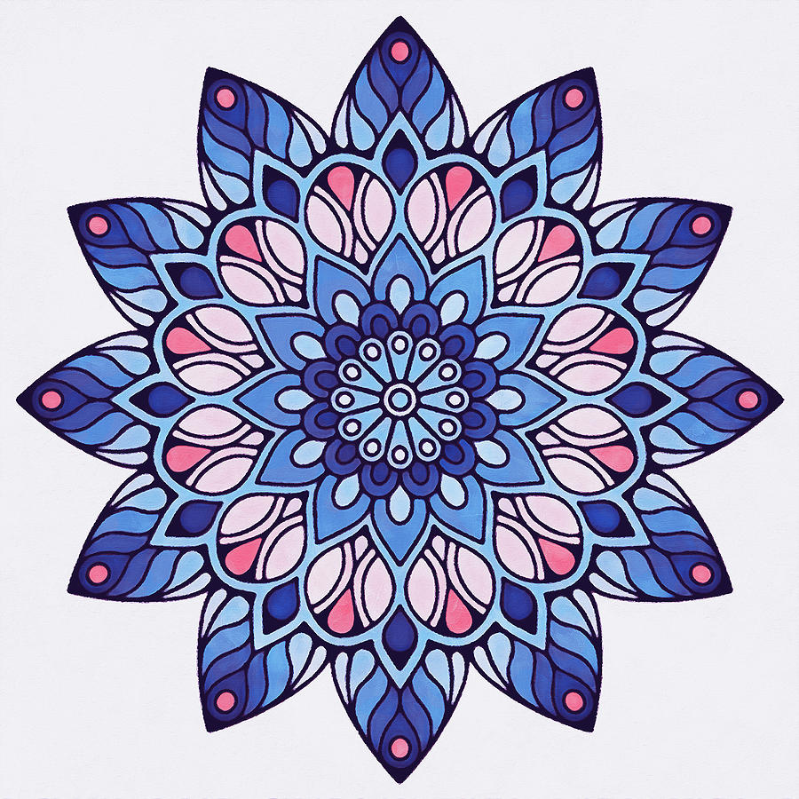 Floral Mandala - 06 by Andrea Mazzocchetti