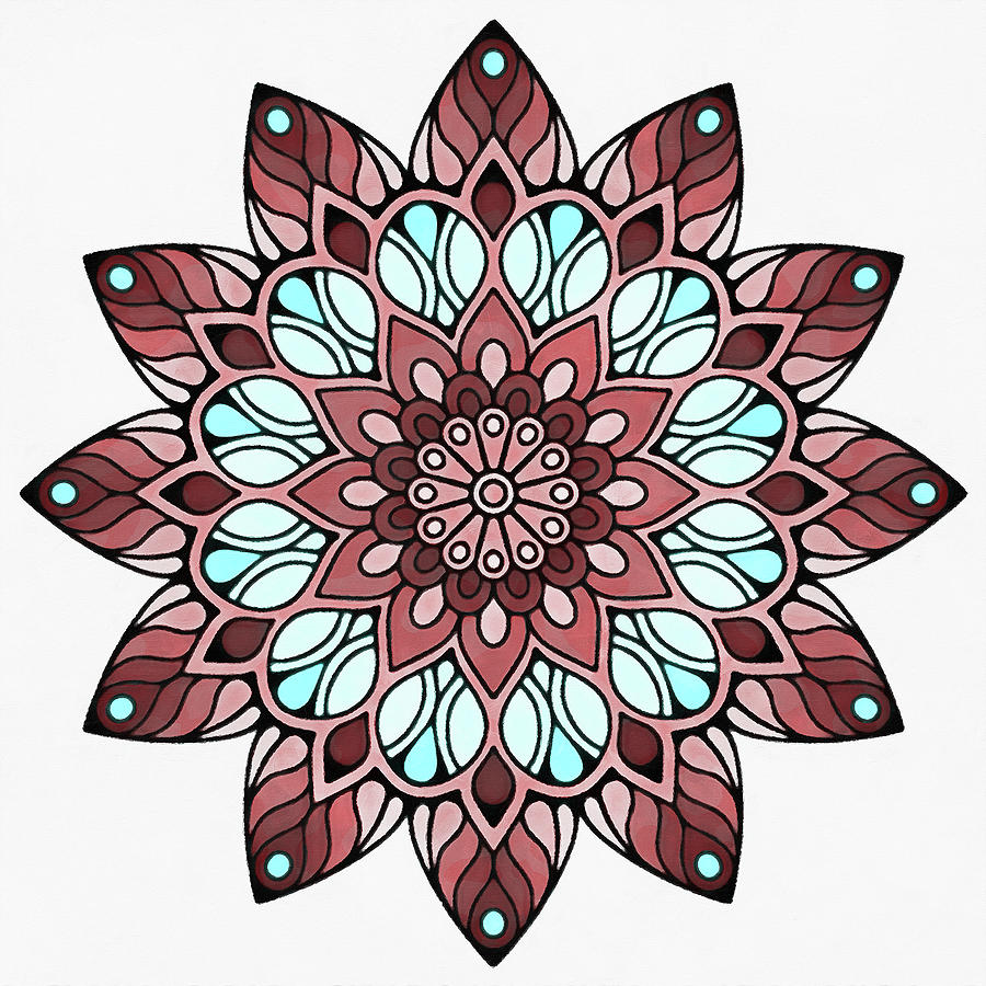 Floral Mandala - 08 by Andrea Mazzocchetti