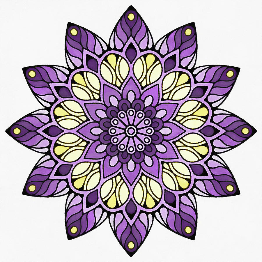 Floral Mandala - 09 by Andrea Mazzocchetti