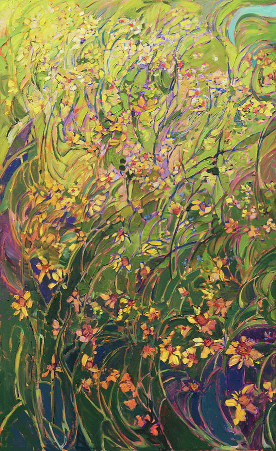 Floral Medley Triptych Left Panel by Erin Hanson