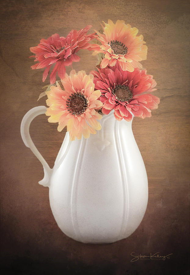 Floral Pitcher by Steve Kelley