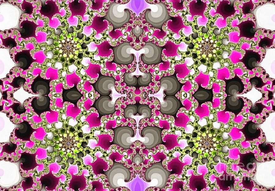 Floral Stars Abstract by Catherine Lott