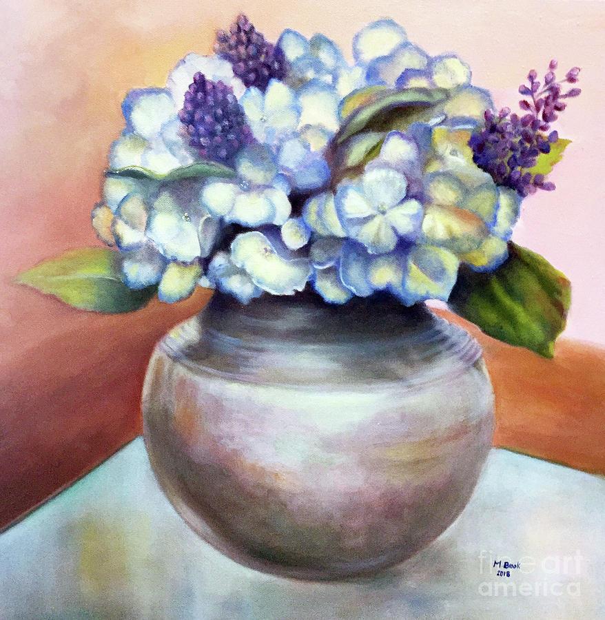 Floral Still Life with Hydrangeas by Marlene Book
