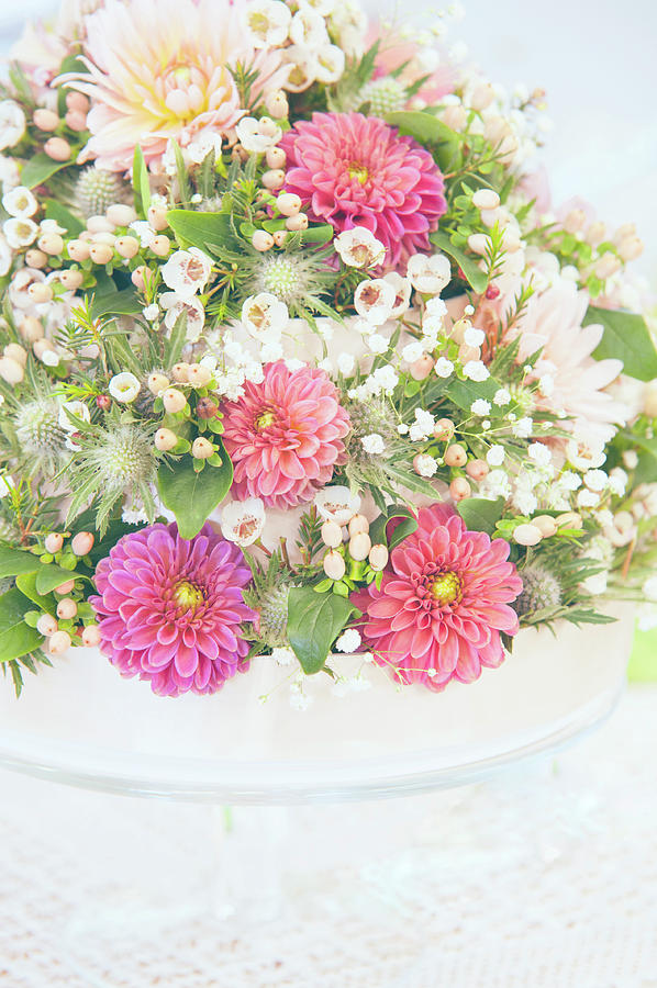 Floral Wedding Arrangement by Jenny Rainbow