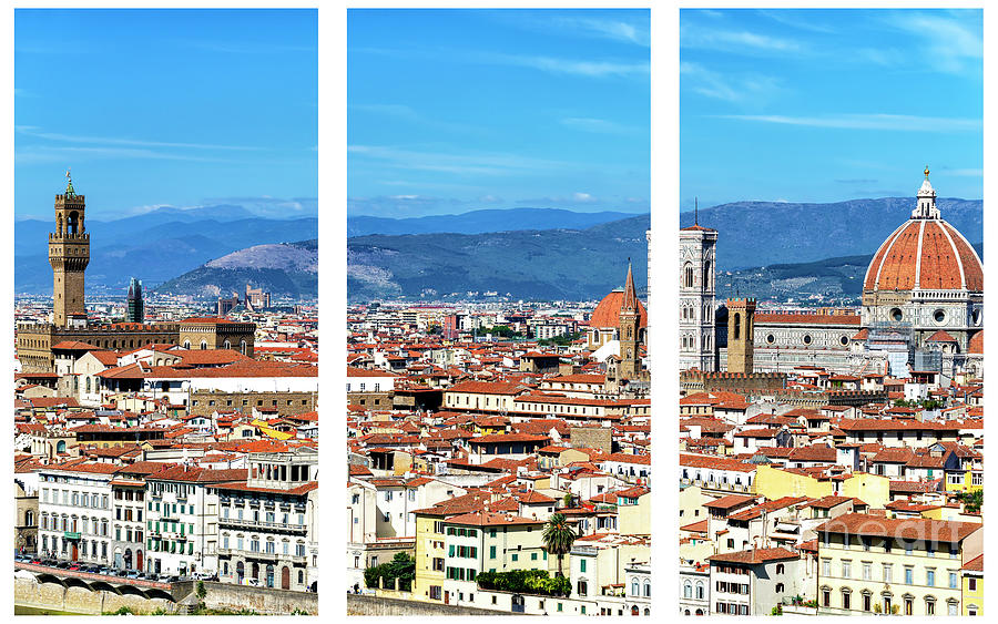Florence Cityscape Triptych by John Rizzuto
