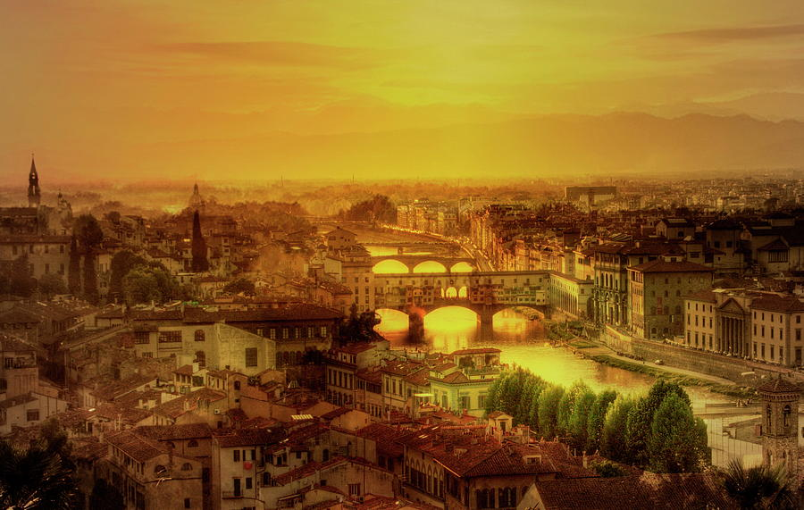 Florence At Sunset Photograph by Photo Art By Mandy