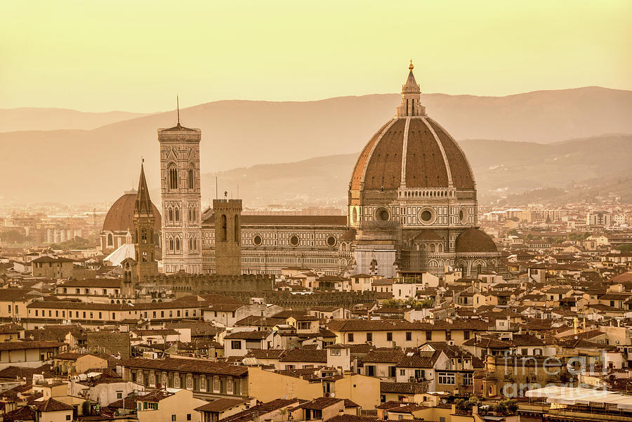 Florence Photograph - Florence Duomo by Delphimages Photo Creations