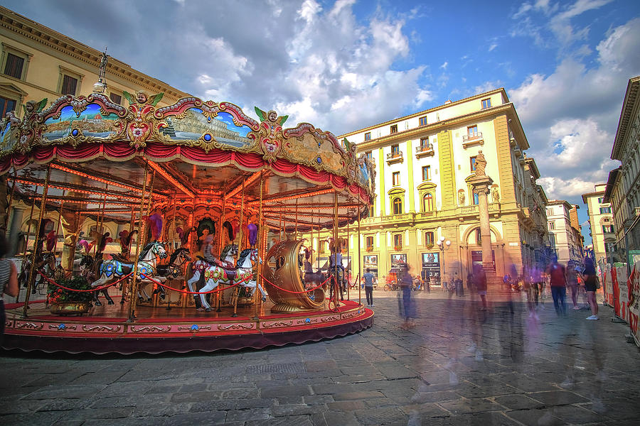 Florence Italy Carousel Piatza de la Republica by Matthew Pace