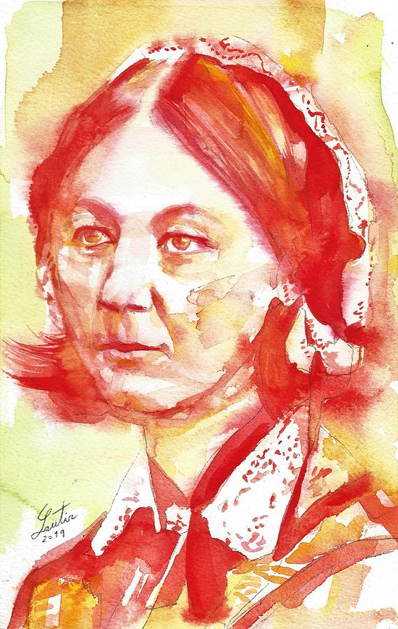 FLORENCE NIGHTINGALE - watercolor portrait by Fabrizio Cassetta