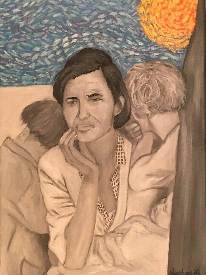 Florence Owens Great Depression Painting by Justin Myers