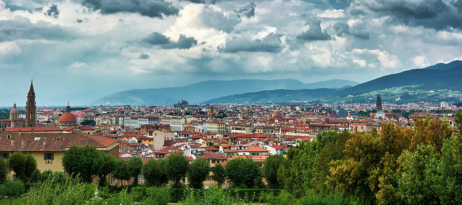 Florentine cityscape from the Boboli Gardens by Eduardo Jose Accorinti