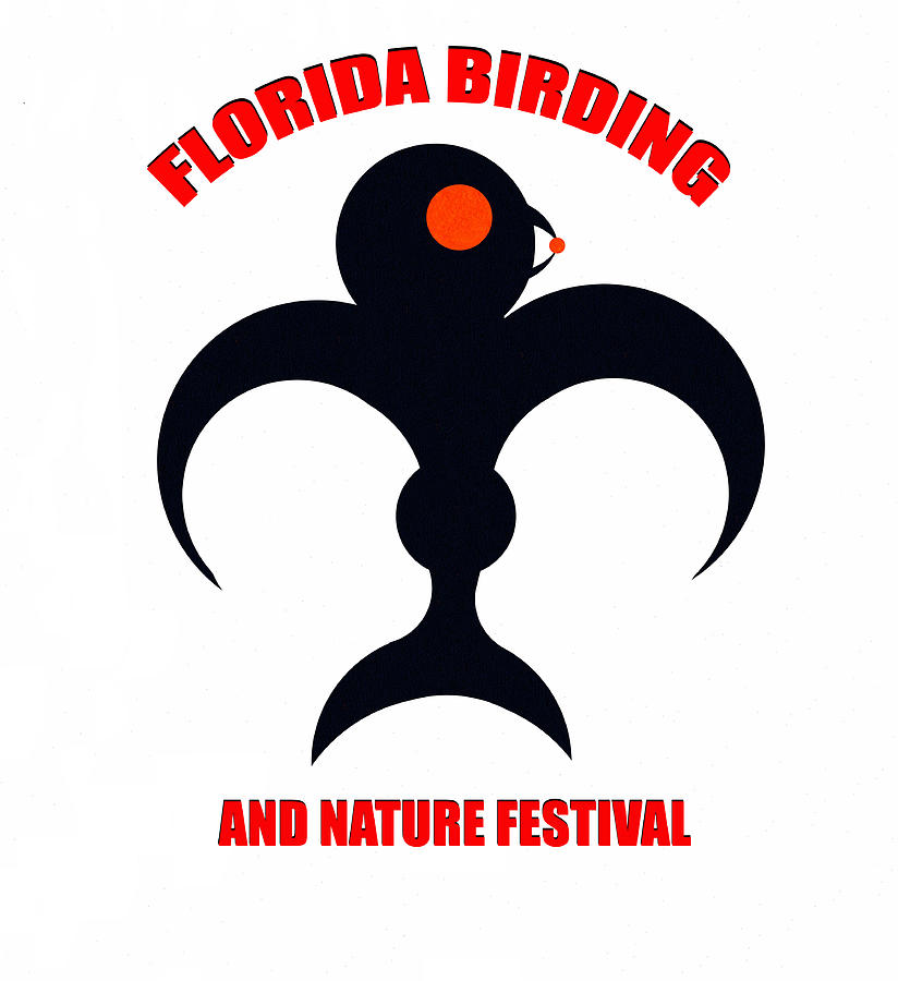 Birding Digital Art - Florida Birding Festival Design A by David Lee Thompson