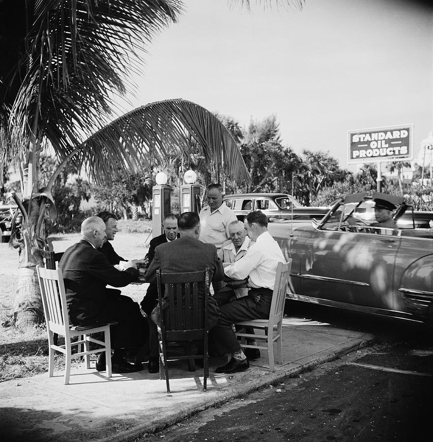 Florida Card Game Photograph by Slim Aarons