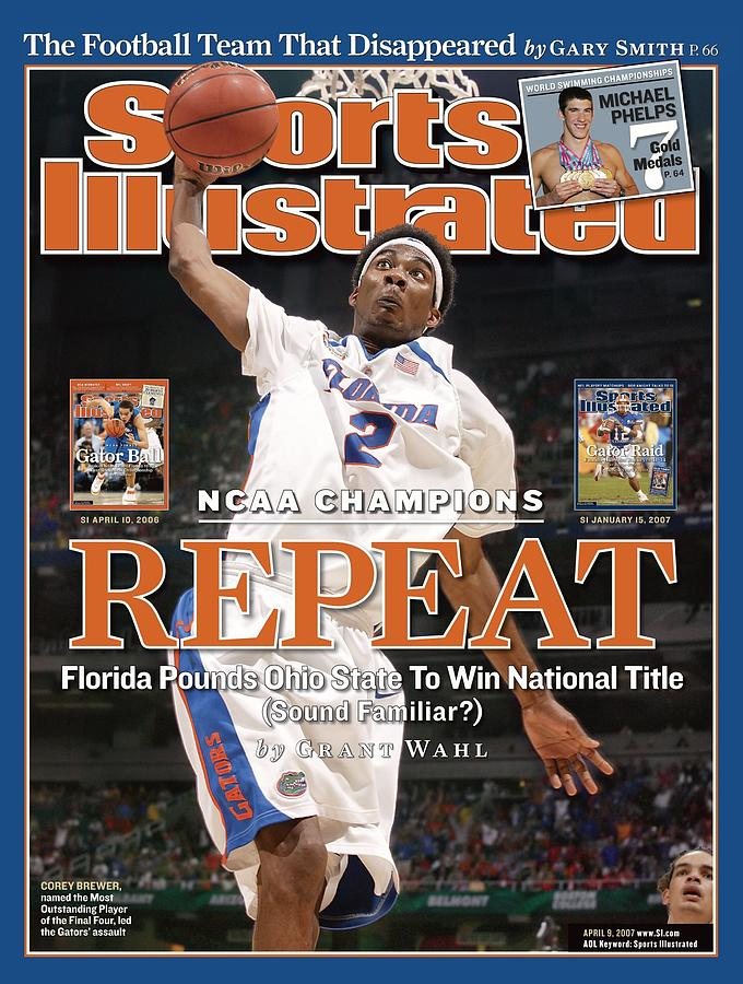 Florida Corey Brewer, 2007 Ncaa National Championship Sports Illustrated Cover Photograph by Sports Illustrated