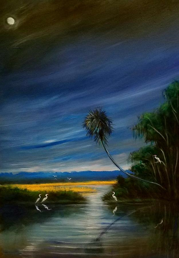 Miami Painting - Florida Fanticy by Larry Palmer