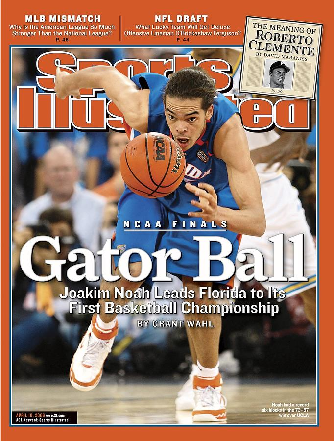 Florida Joakim Noah, 2006 Ncaa National Championship Sports Illustrated Cover Photograph by Sports Illustrated