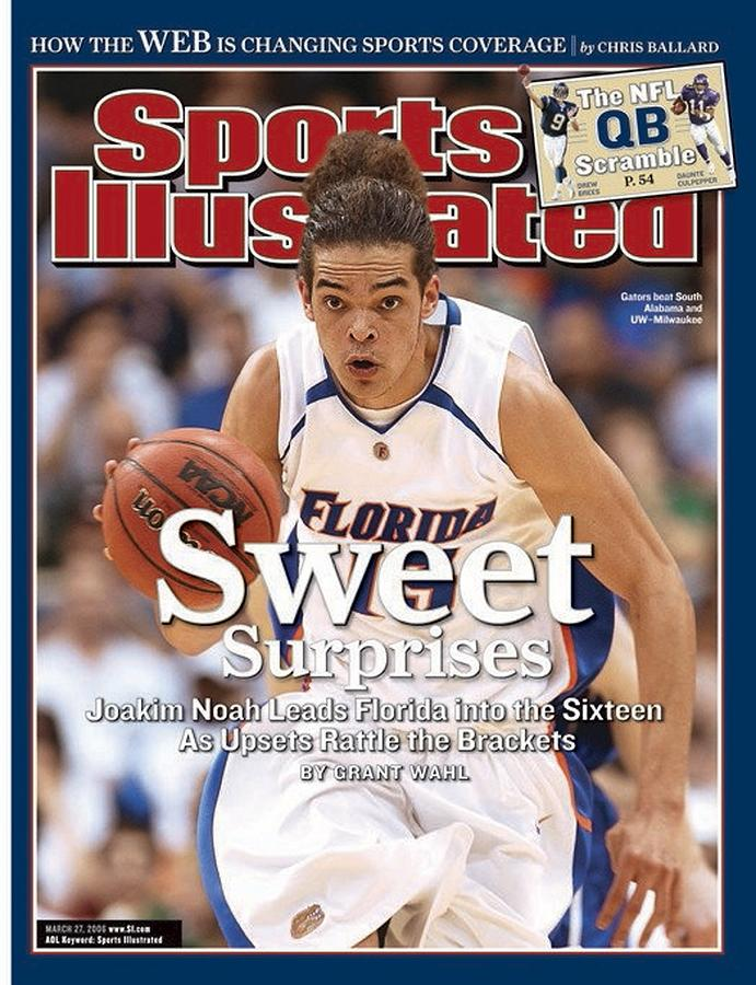 Florida Joakim Noah, 2006 Ncaa Playoffs Sports Illustrated Cover Photograph by Sports Illustrated