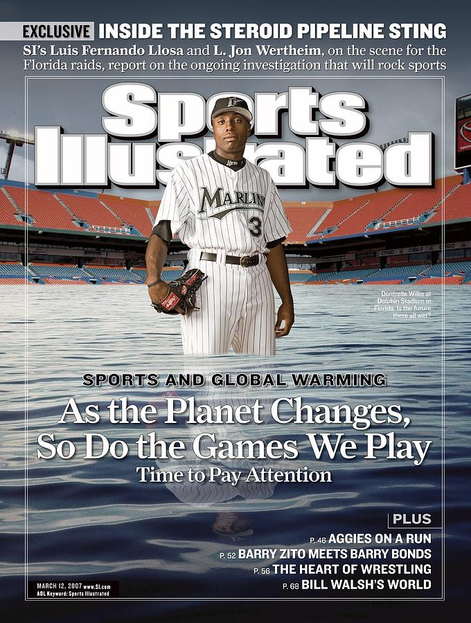 Florida Marlins Dontrelle Willis Sports Illustrated Cover Photograph by Sports Illustrated