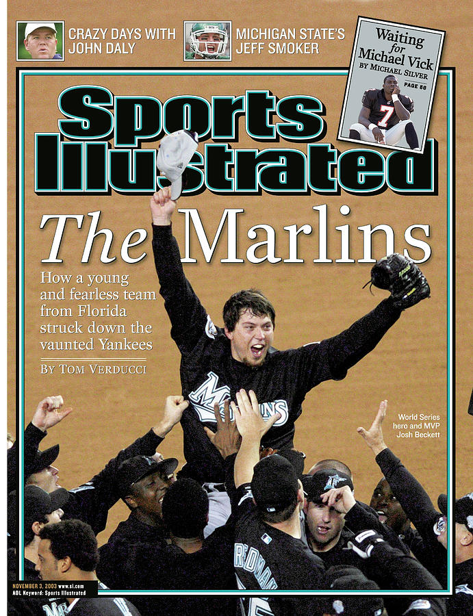 Florida Marlins Josh Beckett, 2003 World Series Sports Illustrated Cover Photograph by Sports Illustrated