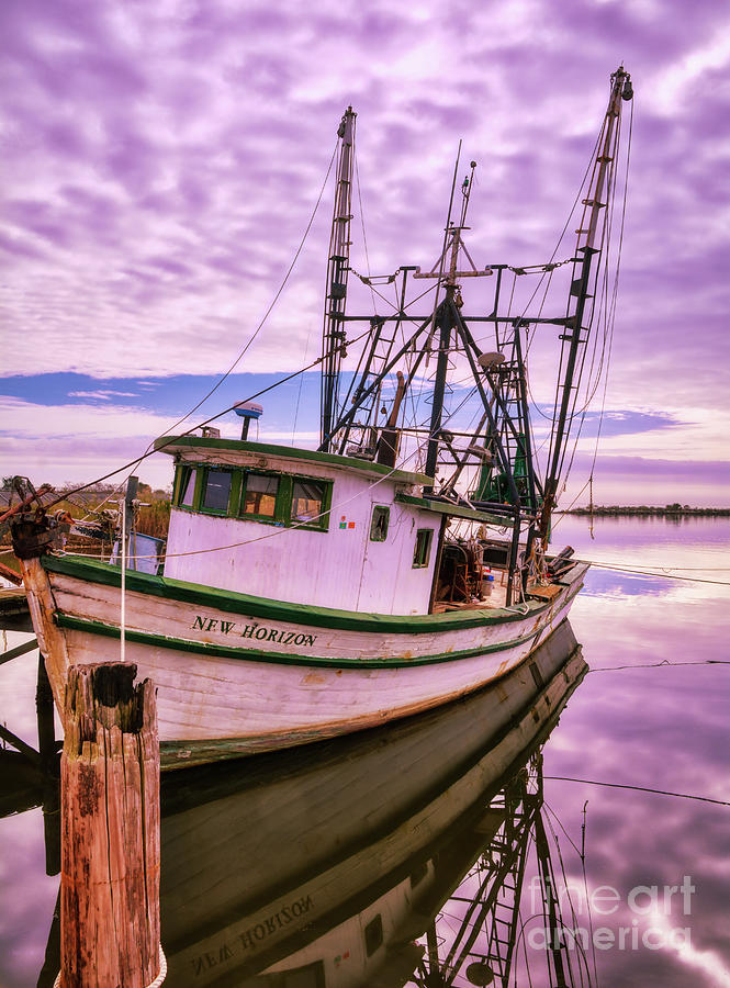 Florida Panhandle Fishing Boat by Mel Steinhauer