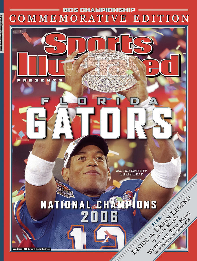 Florida Qb Chris Leak, 2007 Bcs National Championship Game Sports Illustrated Cover Photograph by Sports Illustrated