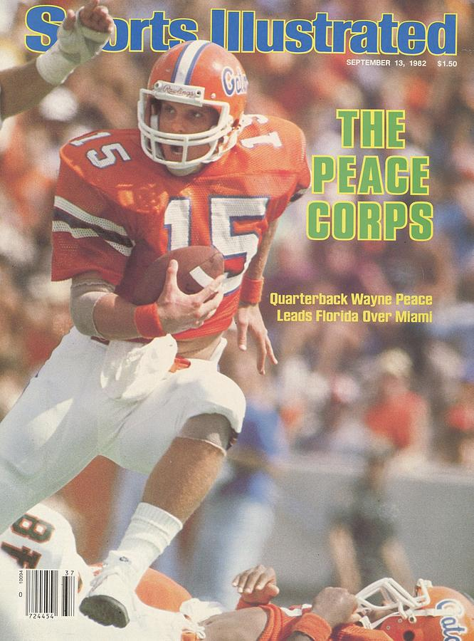 Florida Qb Wayne Peace... Sports Illustrated Cover Photograph by Sports Illustrated