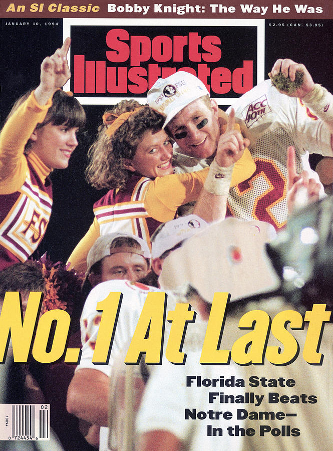 Florida State University Matt Frier, 1994 Fedex Orange Bowl Sports Illustrated Cover Photograph by Sports Illustrated