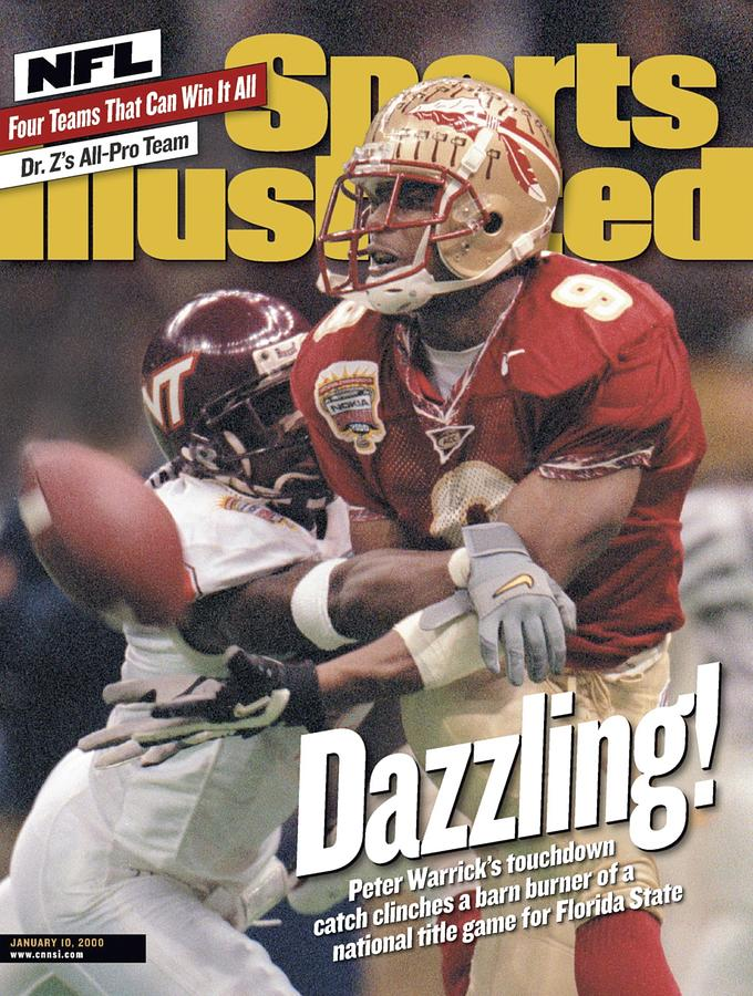 Florida State University Peter Warrick, 2000 Nokia Sugar Sports Illustrated Cover Photograph by Sports Illustrated