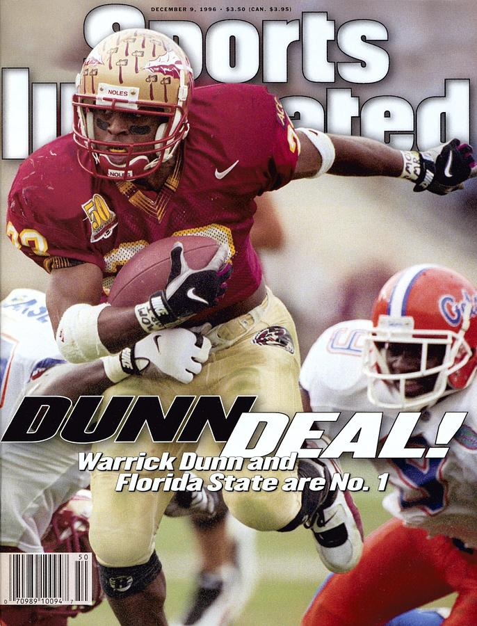 Florida State University Warrick Dunn Sports Illustrated Cover Photograph by Sports Illustrated
