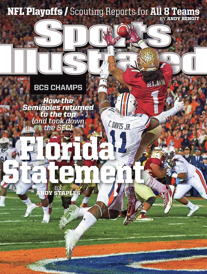 Florida Statement 2013 Bcs Champion Sports Illustrated Cover Photograph by Sports Illustrated