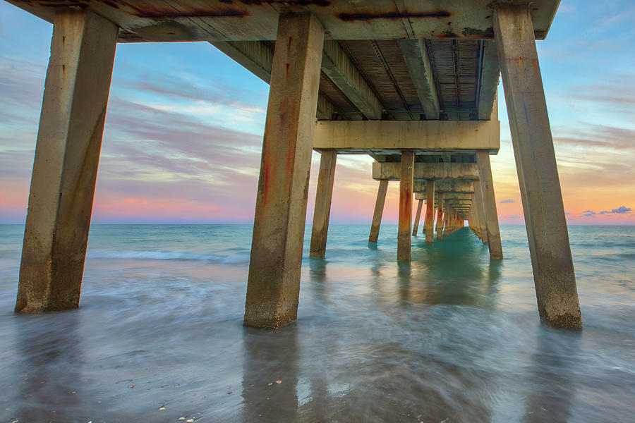 Florida Sunset at Juno Beach Pier by Juergen Roth