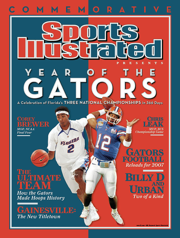 Floridas Corey Brewer And Qb Chris Leak, Florida Gators Sports Illustrated Cover Photograph by Sports Illustrated